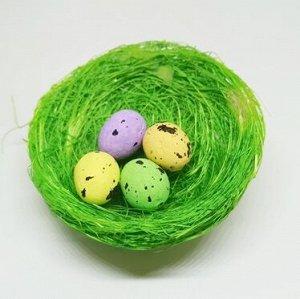 Гнездо декоративное. Зеленый