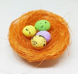 Гнездо декоративное. Оранжевый