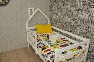 Кровать Софа с домиком у изголовья 180*90 натуральная П
