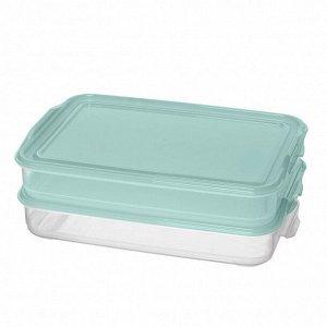"""Комплект контейнеров для продуктов """"Fix&Mix"""" 2шт. (1л+1л) Светло-голубой"""