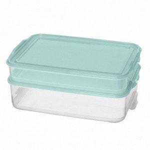 """Комплект контейнеров для продуктов """"Fix&Mix"""" 2шт. (1л+1,6л) Светло-голубой"""