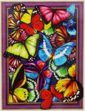 Алмазная мозаика 3D Бабочки