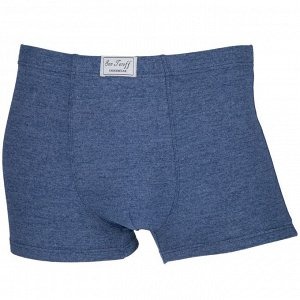 Трусы Модель: шорты. Цвет: синий. Комплектация: трусы. Состав: хлопок-70%, бамбуковое волокно-22%, спандекс-8%. Бренд: SUN JEROFF. Фактура: меланж.