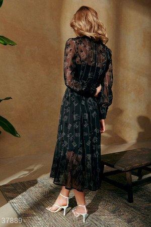Утонченное шифоновое платье
