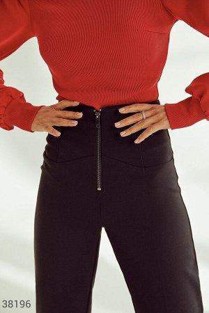 Черные брюки с молнией