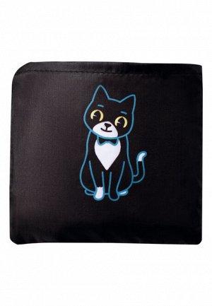 Cумка складная «Забавные котики», цвет чёрно-голубой, Lovely Moments