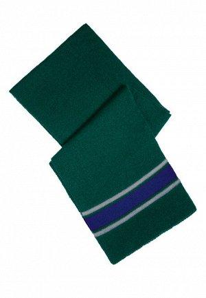Шарф зелено-синий