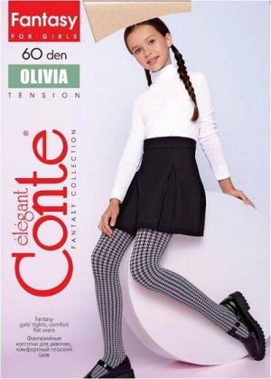Olivia Колготки детские (Conte)  с рисунком «гусиная лапка» 60ден