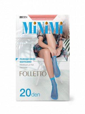 Носки Полиамид 96%, эластан 4% Описание Фантазийные эластичные носочки тм MiNiMi FOLLETTO 20 den в полоску. Комфортная резинка