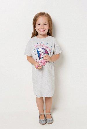 Платье детское для девочек Petryshka серый