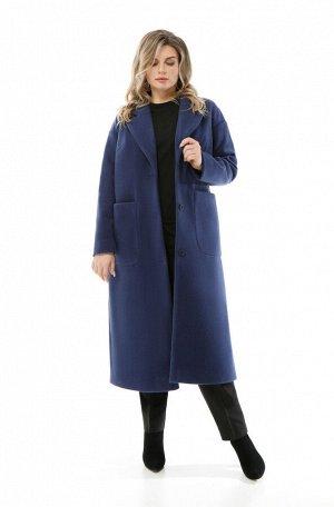 Пальто Пальто Pretty 1932 темно синий  Состав: ПЭ-40%; Шерсть-60%; Сезон: Осень-Зима Рост: 164  Женское пальто прямого силуэта, выполненное из плотной пальтовой ткани. Застежка центральная бортовая н