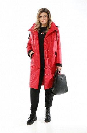 Пальто Пальто Pretty 1914 красный  Состав: ПЭ-100%; Сезон: Осень-Зима Рост: 164  Женское дутое пальто трансформер, выполненное из плащевой ткани и утепленное синтепоном. Застежка смещенная на двойной