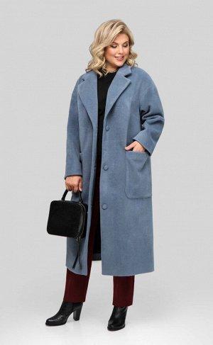 Пальто Пальто Pretty 1932 синий  Состав: ПЭ-40%; Шерсть-60%; Сезон: Весна Рост: 164  Женское пальто прямого силуэта, выполненное из плотной пальтовой ткани. Застежка центральная бортовая на три петли