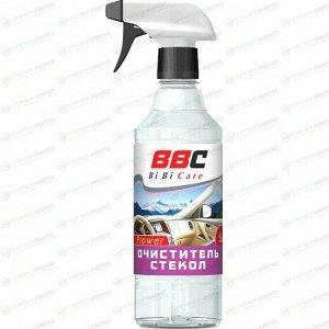 Очиститель стёкол и зеркал BiBiCare, с цветочным ароматом, бутылка с триггером 550мл, арт. 4012