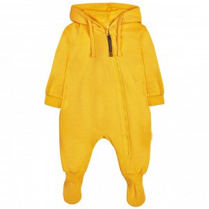 Комбинезон с капюшоном (стопа) для мальчика, жёлтый