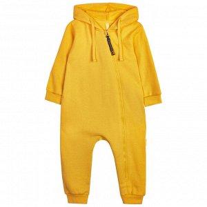 Комбинезон с капюшоном (манжет) для мальчика, жёлтый