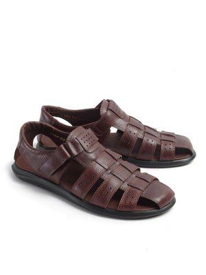 Туфли мужские летние, коричневая кожа