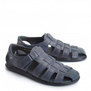 Туфли мужские летние, синяя кожа