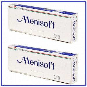 1-мес контактные линзы Menisoft ДВЕ УПАКОВКИ по 3 линзы (Япония)