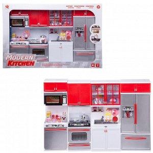 """Кухня """"Модерн"""", 4в1, серебристо-красная, 54х9,5х36см, со звуковыми и световыми эффектами80"""