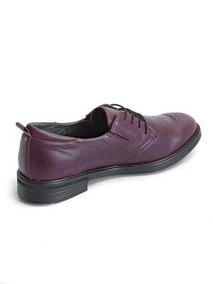 Туфли женские летние, бордовая кожа