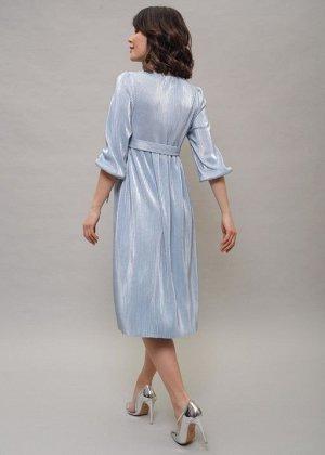 """Платье """"Монро"""" для беременных и кормящих; голубой"""