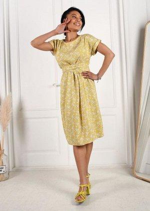 """Платье """"Юлиана"""" для беременных и кормящих; желтый"""