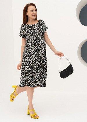 """Платье """"Юлиана"""" для беременных и кормящих; черный"""