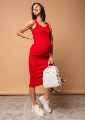 """Платье """"Кашкорсе"""" для беременных и кормящих красный"""