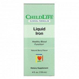 Childlife Clinicals, жидкое железо, с натуральным ягодным вкусом, 118 мл (4 жидк. унции)
