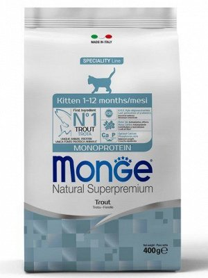 Monge Cat Monoprotein корм для котят с форелью 400г