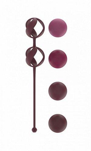 Набор сменных вагинальных шариков Love Story Valkyrie Wine Red