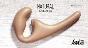Безремневой анальный страпон Natural Seduction Beige