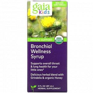 Gaia Herbs, сироп для детей для здоровья бронхов, 89 мл (3 жидк. унции)