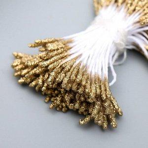 """Тычинки для искусственных цветов """"Пушистые золотые"""" длина 6 см (набор 170 шт)"""