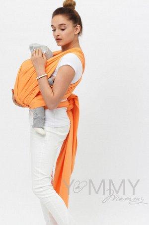 Слинг-шарф трикотажный оранжевый