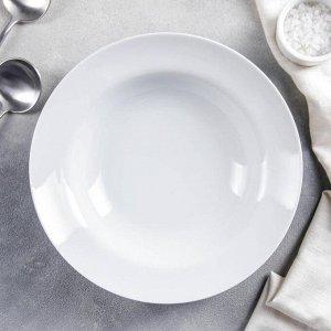 Тарелка глубокая Добрушский фарфоровый завод «Идиллия», d=24 см, 500 мл, цвет белый