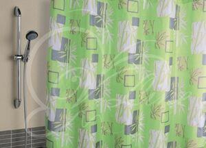 Штора для ванной комнаты, 180 х 180 см, с кольцами, полиэстер, БАМБУК, 1/20