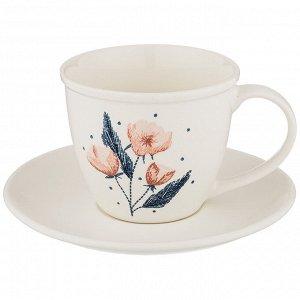 """Чайная пара """"Кофемания"""" 250мл, цв.белый 756-220"""