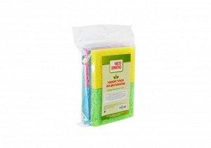 Набор губок из целлюлозы 9,5х6,5х2см, 4шт, Cellulose Sponge Scourer ВЭД