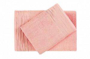 "05.""Aquarelle"" Полотенце махровое ""Палитра"" 33х60см, цв.розово-персиковый, пл.300"