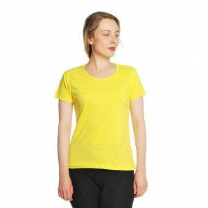 Футболка женская, желтая