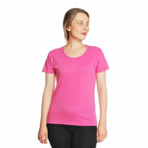 Футболка женская, розовая