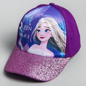 """Кепка детская """"Queen of snow & ice"""" Холодное сердце, р-р 52-56 5425151"""