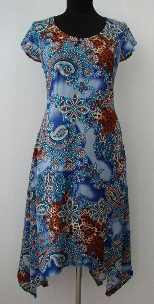 """Платье женское """"Джулия"""" штапель модель 368 василек огурчик"""