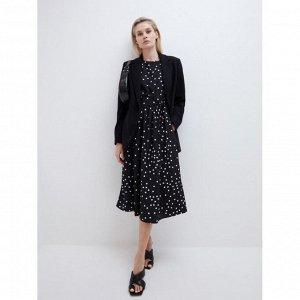 Платье женское черный графика крупная