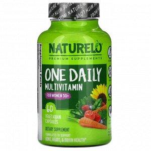 NATURELO, мультивитамины ежедневного применения для женщин старше 50 лет, 60 вегетарианских капсул