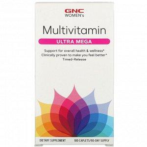GNC, Ultra Mega, мультивитамины для женщин, 180 капсул