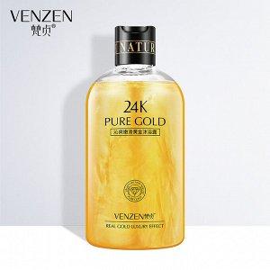 Роскошный гель для душа с 24-каратным золотом Venzen,550мл