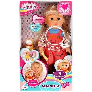 16131-RU Кукла функциональная Марина 40см, ходит,поет, читает стихи, акс - питомец, кор КАРАПУЗ в кор.6шт